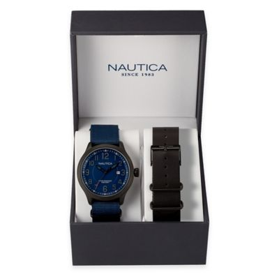 Nautica® Men's 45mm NC 01 Date Watch Box Set
