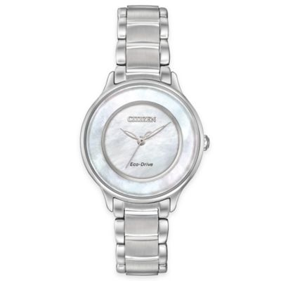 Citizen Eco-Drive Ladies' 30mm Circle of Time Watch in Stainless Steel with Mother of Pearl Dial