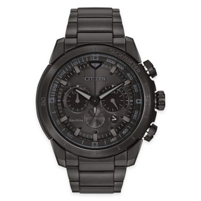 Citizen Eco-Drive Ecosphere Men's 48mm Watch in Black Polymatte Stainless Steel with Black Dial