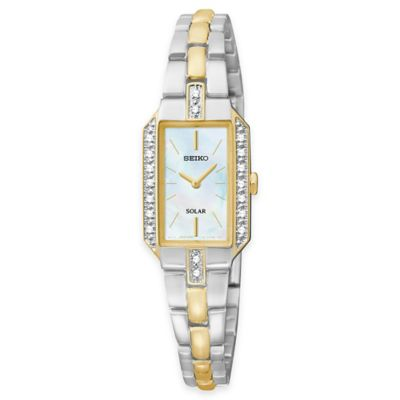 Seiko Ladies' Solar Dress Watch in Two-Tone Stainless Steel