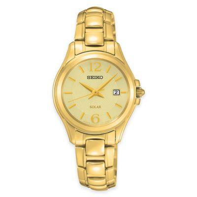 Seiko Ladies' Solar Bracelet Watch in Goldtone Stainless Steel
