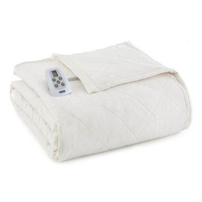 Micro Flannel® Electric Heated Twin Comforter/Blanket in Ivory