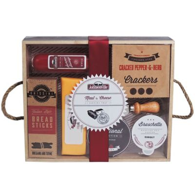 Johnsonville® Meat and Cheese Wooden Serving Tray Gift Set