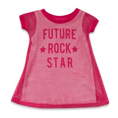 """AMY COE Size 12M """"Future Rock Star"""" Dress in Hot Pink"""
