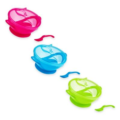 Nuby™ Easy Go™ Suction Bowl and Spoon Set in Green