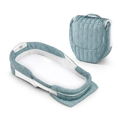 Baby Delight® Snuggle Nest Surround® Extra Long Portable Infant Sleeper in Sea Green Rings