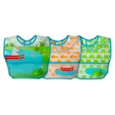 green sprouts® by i play.® 3-Pack Pond Wipe-Off Bibs
