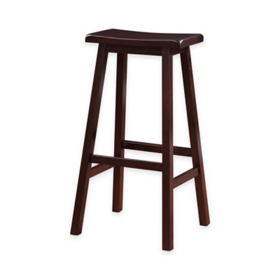 Classic Saddle 29-Inch Saddle Stool in Dark Brown