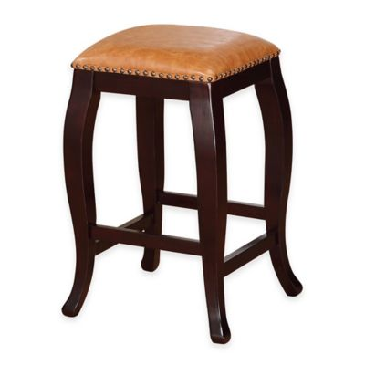 San Francisco Square Top 24-Inch Counter Stool in Brown