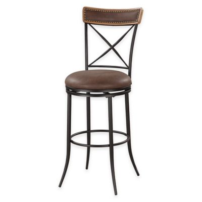 30-Inch X Back Metal Counter Stool