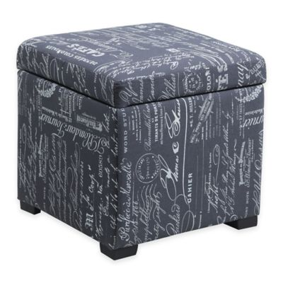 Judith Ottoman with Jewelry Storage in Red