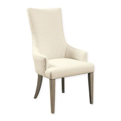 Pulaski Zona Arm Chairs in White/Brown