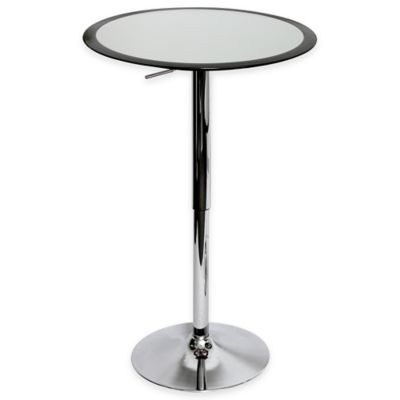 LumiSource Ribbon Bar Table in Black and Silver