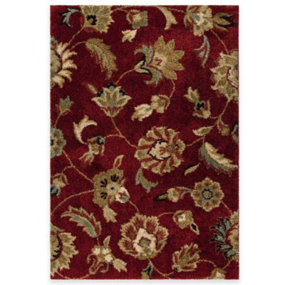 Orian Euphoria Landyn 7-Foot 10-Inch x 10-Foot 10-Inch Area Rug in Red