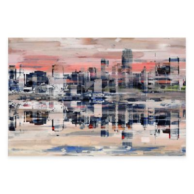 NYC Reflection 45-Inch x 30-Inch Canvas Wall Art