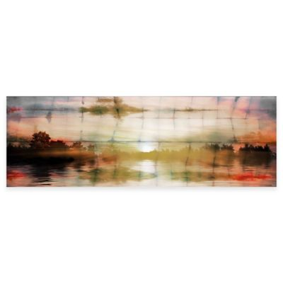 Painted Sunset 30-Inch x 10-Inch Canvas Wall Art