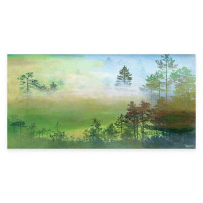 Misty Pine Forest 36-Inch x 18-Inch Canvas Wall Art
