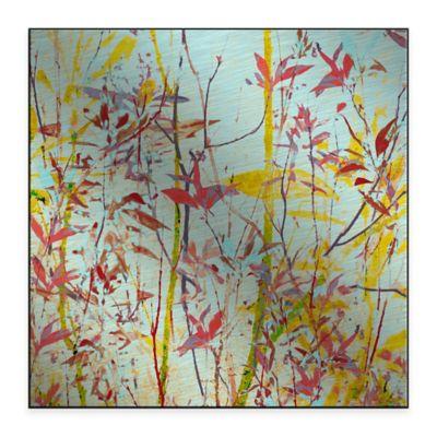 Radiant Foliage III 36-Inch x 36-Inch Metal Wall Art