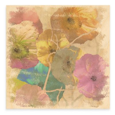 Poppy Dreams II 25-Inch x 25-Inch Wood Wall Art