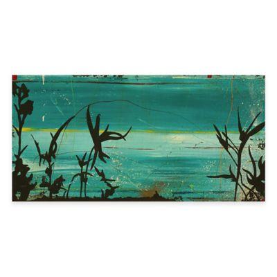 In Blue I 25-Inch x 13-Inch Wood Wall Art
