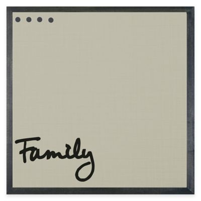 Framed Canvas Family Magnet Board with Magnets