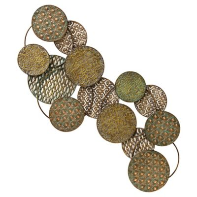 Metallic Decorative Hanging Plates