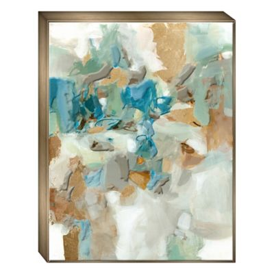 Abstract Aqua Framed Canvas Wall Art