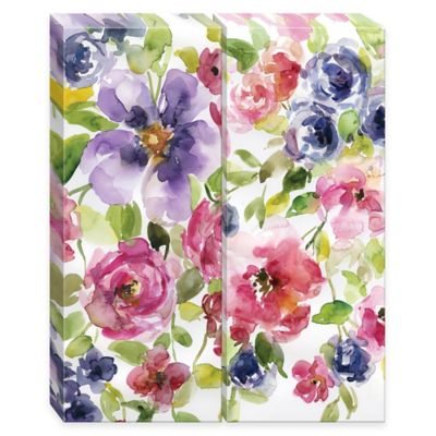 Floral Burst Canvas Wall Art (Set of 2)
