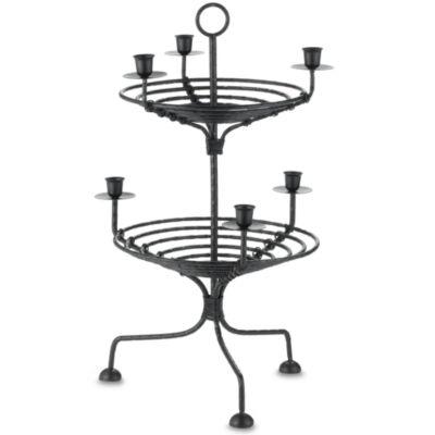 International Silver 2-Tier Metal Candleholder