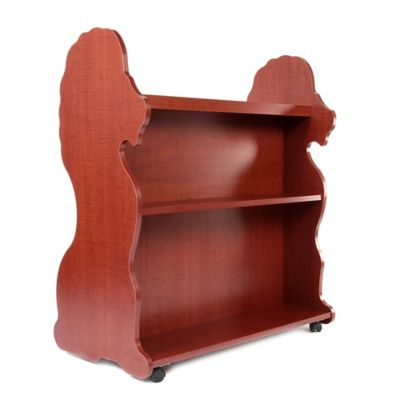 Ace Baby Furniture Lion Mobile Double Sided Bookcase in Cherry