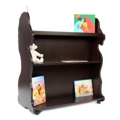 Ace Baby Furniture Lion Mobile Double Sided Bookcase in Espresso