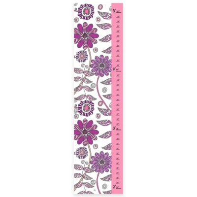 Green Leaf Art Flowers Garden Growth Chart