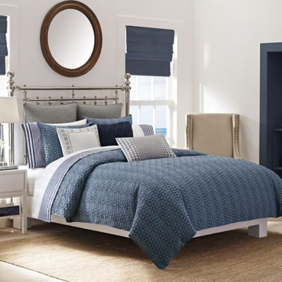 Nautica® Ayer Reversible Full/Queen Comforter Set in Navy