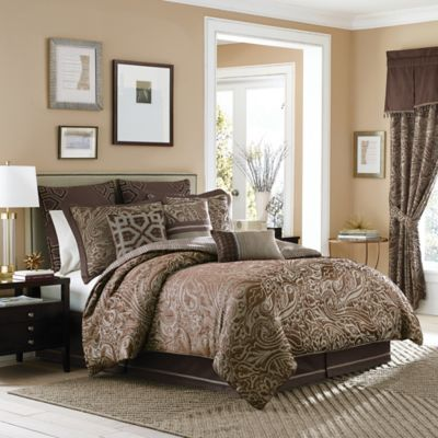 Croscill® Sancerre Reversible California King Comforter Set in Chocolate