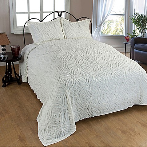 Buy Wedding Ring Chenille King Bedspread In Ivory From Bed