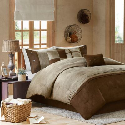 Madison Park Boone 7-Piece King Comforter Set in Brown