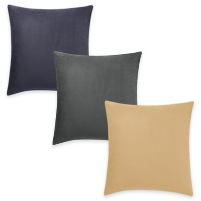 Sure Fit® Stretch Suede Square Throw Pillow Cover in Oatmeal