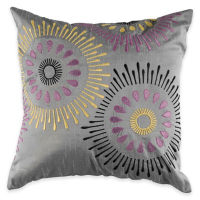 Silver/Purple Throw Pillows
