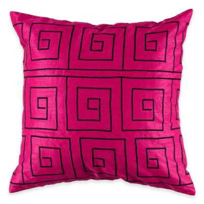 Rizzy Home Embroidered Pattern Square Throw Pillow