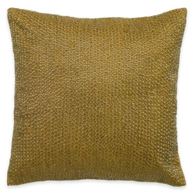 Rizzy Home Sequin Pattern Square Throw Pillow in Gold