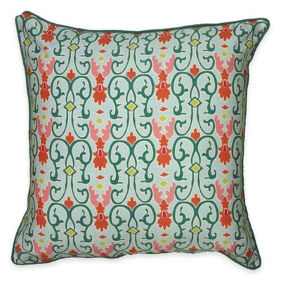 Damask Square Throw Pillow
