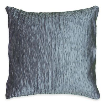 Rizzy Home Gathered Square Throw Pillow in Light Blue