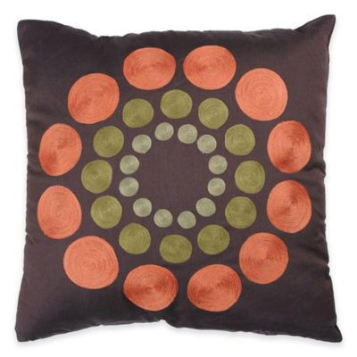 Rizzy Home Dot Embroidery Decorative Throw Pillow