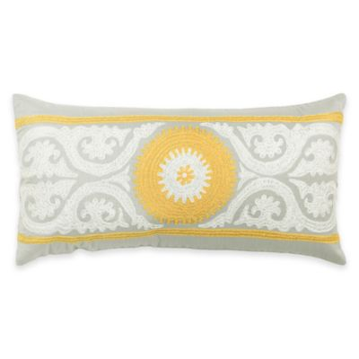 Rizzy Home Embroidered Medallion Oblong Throw Pillow