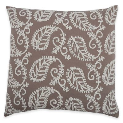Rizzy Home Embroidered Paisley Square Throw Pillow