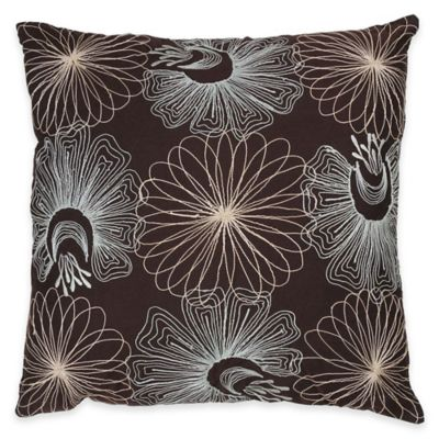 Floral Square Decorative Pillow