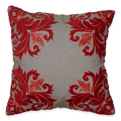 Rizzy Home Appliqued Sequin Border Square Throw Pillow
