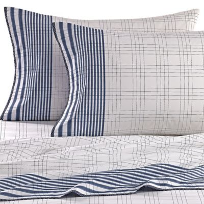 Nautica® Ayer Queen Sheet Set in Navy