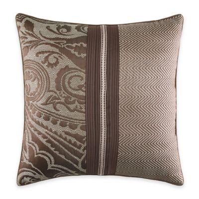 Croscill® Sancerre Square Throw Pillow in Chocolate