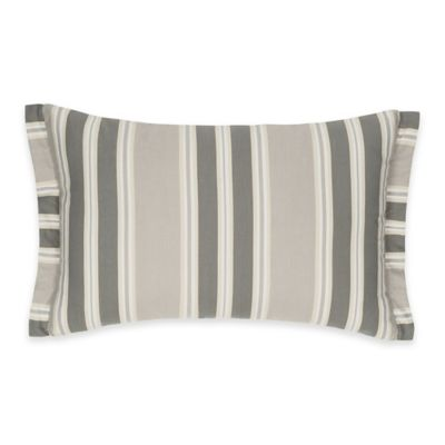 Colonial Williamsburg Eve Striped Oblong Throw Pillow